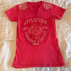 Womens Affliction Shirt-Small